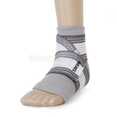 1 set Footful Ankle Foot Support -Elastic Sleeve + Bandage Brace Sprot Supplies