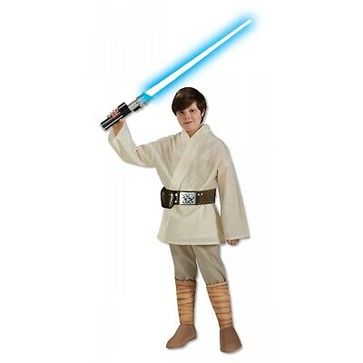 Luke Skywalker Costume Kids Halloween Deluxe Star Wars Fancy Dress