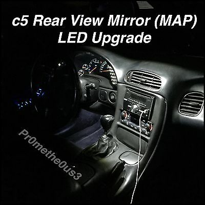 1997-2004 c5 Corvette Interior rear view mirror (map) White LED lights