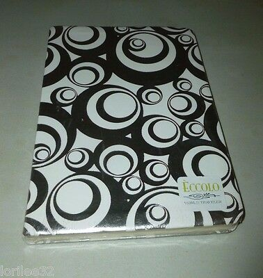 ECCOLO WORLD TRAVELER SILVER BUBBLES EMBOSSED FLEXI LINED JOURNAL