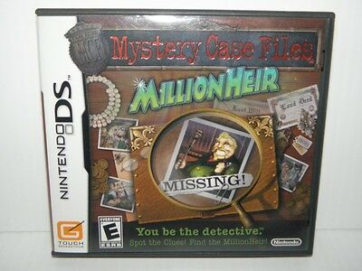 Mystery Case Files: MillionHeir  (Nintendo DS, 2008) YOU BE THE DETECTIVE! Rare!