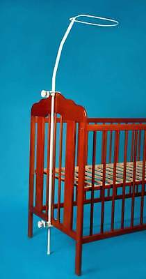 Universal Canopy Drape Holder Rod. Fits Cot Cotbed. Sturdy Durable. EASY FIT!