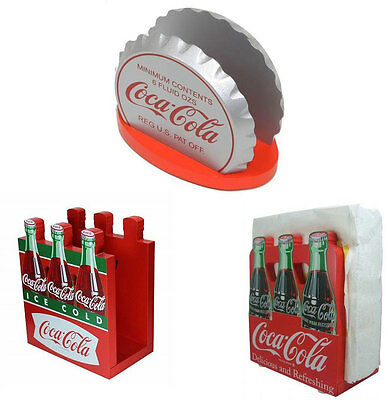 Coke / Coca Cola Retro Diner Style Wooden Napkin Holder - New Official In Box