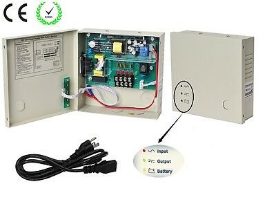 4Channel DC12V 3A UPS Box Power Supply Support Battery CE ROHS For CCTV Camera