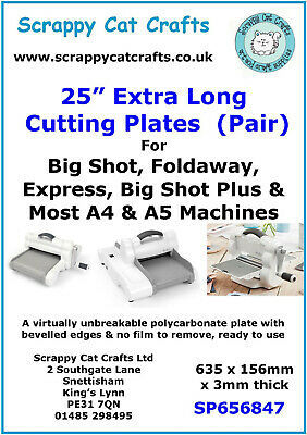 "Sizzix Big Shot  : XL 25"" Pair of Cutting Plates : SP659811"