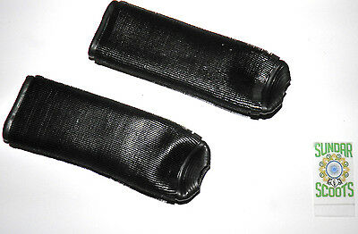 Rubber Handlebar Grip Covers. Suitable For Lambretta,vespa And Other Scooters