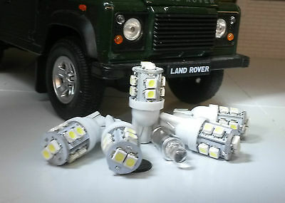 Xenon White LED Dash/Speedo Land Rover Defender 90/110 TDI kit including Clock