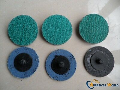"10 Pcs 3"" 75mm Roloc Quick Change Sanding Discs 40, 60, 120grit for All Metal"