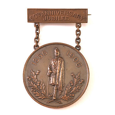 Antique New York Caledonian Club 50th Anniversary Jubilee Copper Medal, C.1906