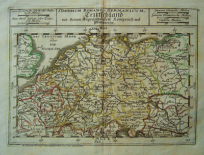 1704 Genuine Antique Map of Roman Germany. by Bodenehr