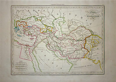 1833 Genuine Antique map Alexander's Empire.  Malte-Brun