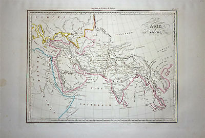 1833 Genuine Antique map of Ancient Asia. Malte-Brun