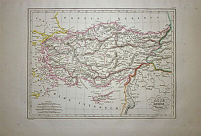 1833 Genuine Antique map Ancient Asia Minor. Malte-Brun