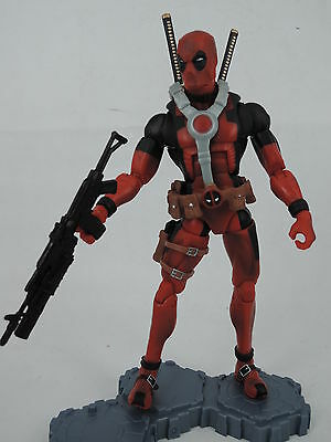 Marvel legends Red DEADPOOL LOOSE figure RARE with base