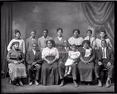 Vintage Photo Unknown African American Family Photo. 8 x 10 Photo Ships Free