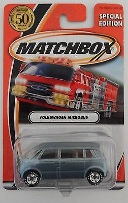 2002 Matchbox 50th Anniversary LOGO CHASE Dealer Only VW MICROBUS! Rubber Tires!