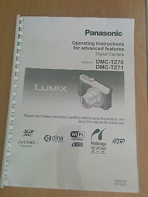 Printed Panasonic Lumix DMC TZ70 TZ71 Camera Instruction Manual / User Guide