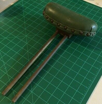 Antique Two Post Head Rest Off Koken Barber Chair, No Notches Smooth Post