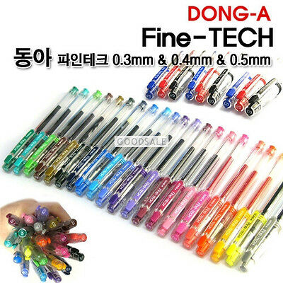 DONG-A Fine-Tech Excellent Writing Gel 0.3mm Pens (Choose  9 colors)