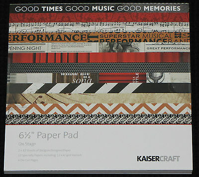 "Kaisercraft 'ON STAGE' 6.5"" Paper Pad KAISER *Deleted 3 LEFT ONLY*"