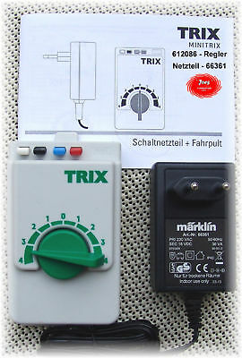 Trix 612086 Throttle control + Switching power supply 66361 36 VA#NEW