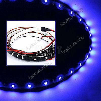 2 Stk Blau LED Strip 30cm 15 SMD 3528 LED Auto Band Streifen Leiste Wasserdicht