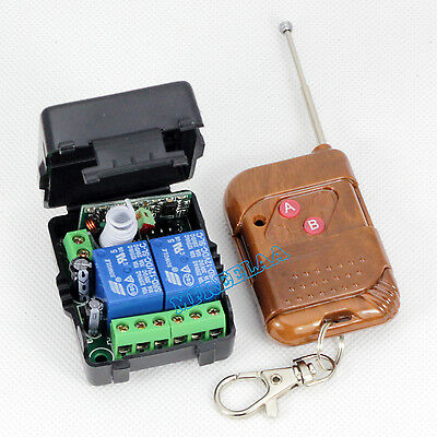 DC12v 10A Relay 2CH 2 Channel Wireless RF Remote Control Transmitter + Receiver