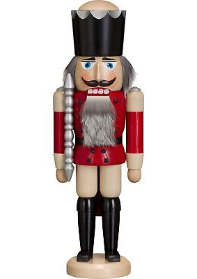 German nutcracker King ash-tree red, height 39 cm / 15 inch, or.. SV 11211/1 NEW