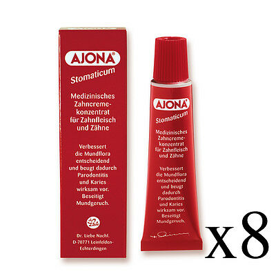 8x Ajona Stomaticum Medical Toothpaste Concentrate 25ml - Origin Germany