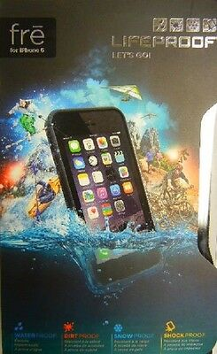 "100% Authentic Lifeproof Fre Case For Apple iPhone 6 (4.7"") Waterproof Black"