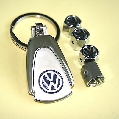 3Dlv Key Chain  Locking Valve Caps Rims Vw Volkswagen Gti Golf Jetta Bettle New