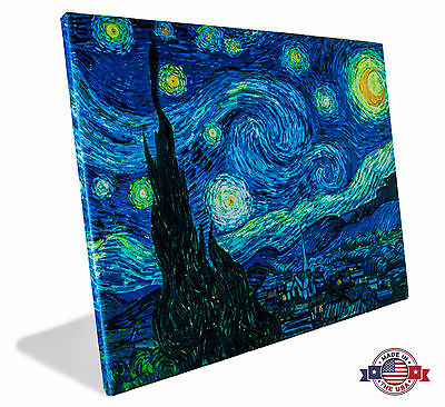 Canvas Print - Starry Night - Vincent Van Gogh - Gallary Wrap or Canvas Only