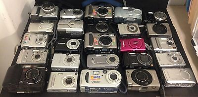 Lots Of 25 Mixed  Digital Cameras Canon, Sony, Panasonic, Olympus, Etc.