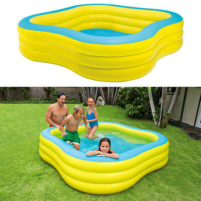 INTEX Swim Center 229x229x56cm Family Swimming Pool Planschbecken Kinderpool