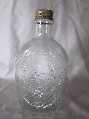 Vintage Log Cabin Syrup Bottle Ben Franklin w/ Cap