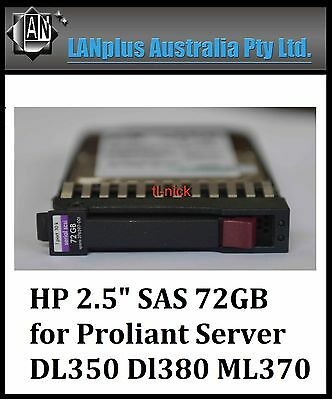 "HP 72GB 10K SAS 2.5"" Hot Plug Hard Drive  504015-001 376597-001 4 DL380 G5 ML350"