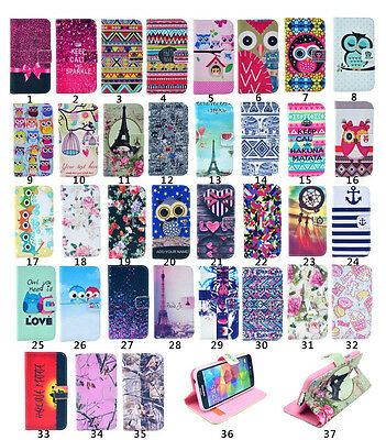Cute Vintage Stand Flip Wallet Leather Hybrid Case for Samsung Galaxy Cell Phone