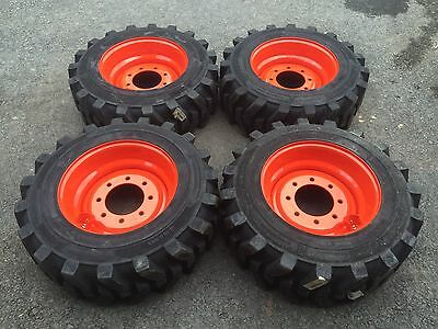 4-10X16.5 HD Skid Steer Tires-Wheels/Rims for Bobcat-10-16.5-Solideal Xtra wall