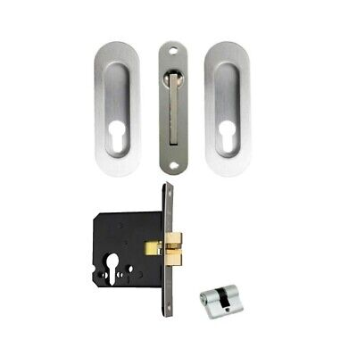 Quality Cavity Sliding Door Lock 100cpv Privacy Polished