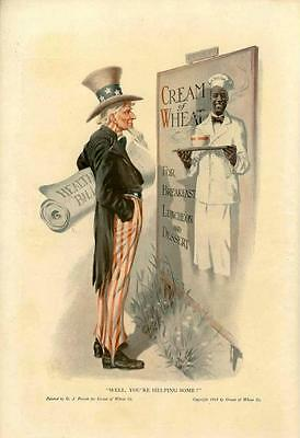 Well You're Helping Some  -  Cream of Wheat  - Uncle Sam  -  1915
