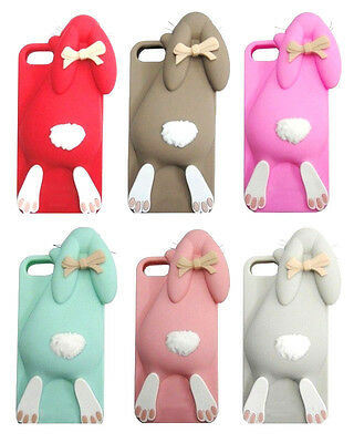 RABBIT COVER IPHONE 4 4S 5 5S 6 6 Plus MOSCHINO bumper silicone coniglio case