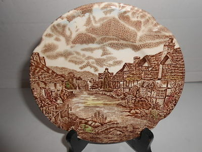 VTG JOHNSON BROS OLDE ENGLISH COUNTRYSIDE MADE IN ENGLAND DESSERT PLATE 6-1/8""