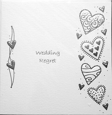Wedding Invitation Regret Card ~ Wedding Regret ~ Luxury Card ~ Special