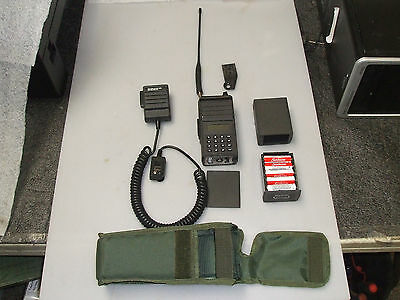 AN/PRC-127 military 2-way Radio Set working with mic and case