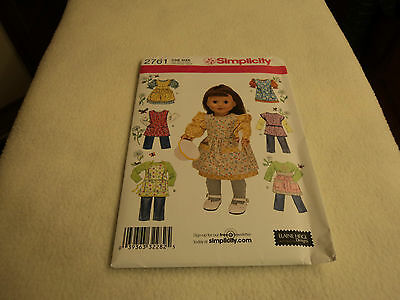"""S 2761 SEWING PATTERN DOLL CLOTHING to fit 18"""" DOLLS NEW AND UNCUT"""