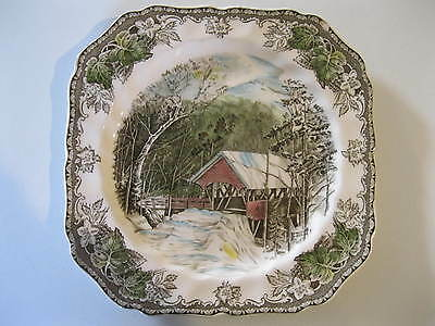 Vintage Johnson Bros. The Covered Bridge The Friendly Village Plate made England