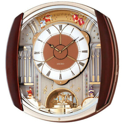 Seiko QXM250B Analogue Musical Melodies in Motion Pendulum Antique Wall Clock