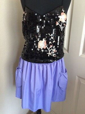 TOPSHOP 3 PIECES STUNNING STRAPY SEQUIN TOP-BRAND NEW MAUVE SKIRT 10 USA