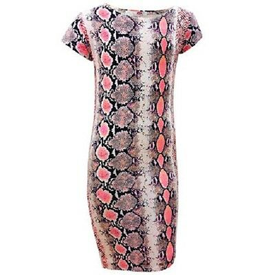 New Girls Kids Snake Print Summer Midi Bodycon Dress Aztec Age 7 8 9 10 11 12 13