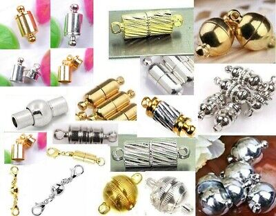 JEWELRY CRAFT CLASPS HEMATITE SCREW CLASP 7X14MM 5 PER SALE MC6
